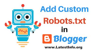Blogger Custom Robots.txt File