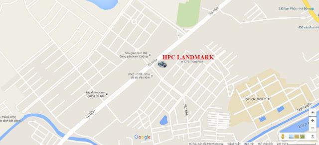 Vị trí chung cư HPC Landmark