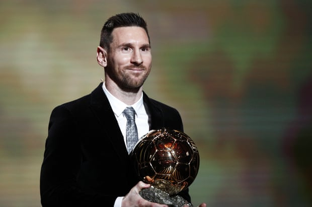 Lionel Messi wins the Ballon D'Or for the sixth time!