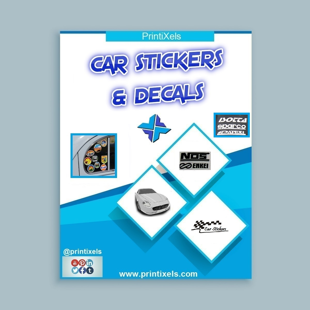 Customized car stickers decals