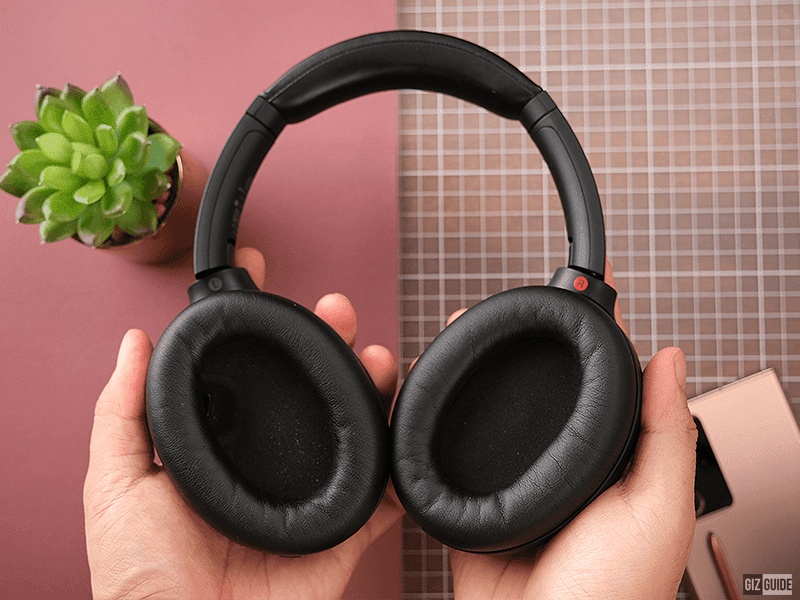 Faux leather ear cups