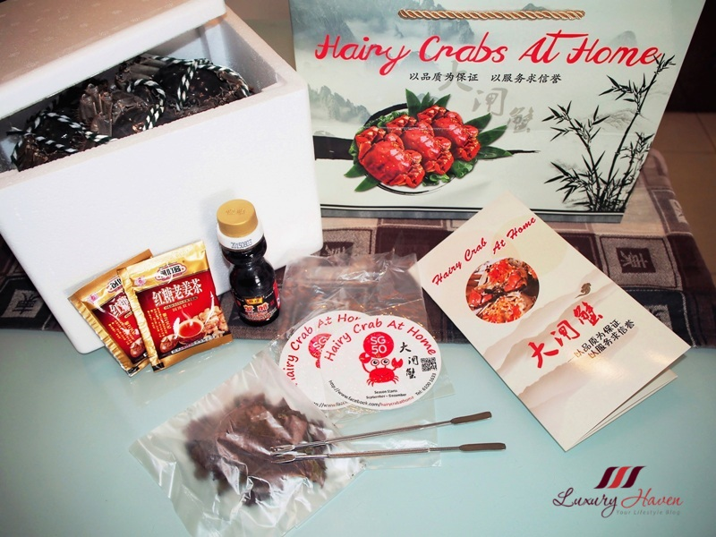 hairy crab at home gold package promotion