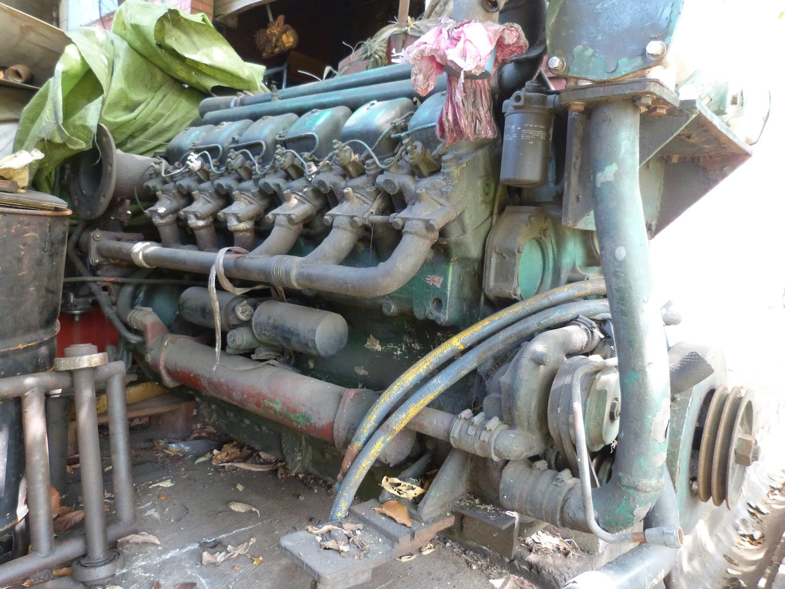 marine engine singapore: Selling USED MWM v12 marine engine