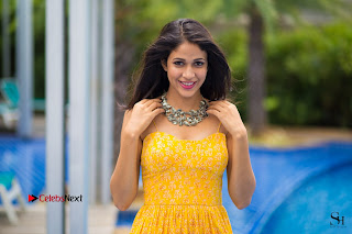 Actress Lavanya Tripathi Latest Picture Shoot Gallery in Yellow Long Dress 0004