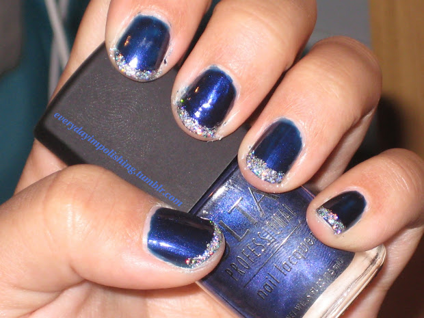 awesome blue nail design 2017