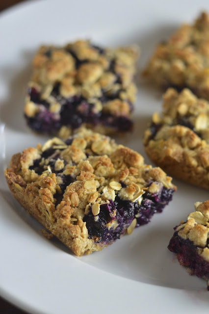 Gluten Free Blueberry Crumble Bars