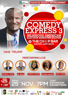 """DKB & Co To Stage """"Donald Trump"""" Edition Of Comedy Express This Friday"""