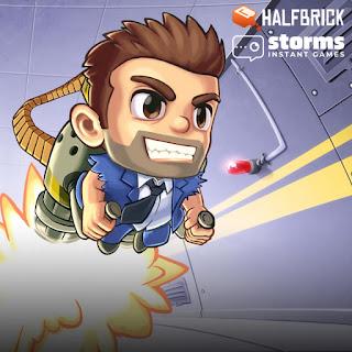 Jogo 2D online grátis Jetpack Joyride HTML5