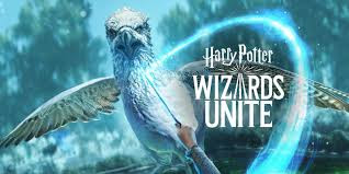 Wizards Unite, A griffin with a magic spell cast from a wand