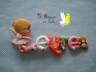 nombre-fieltro-decoración-infantil-elbosquedelulu-hechoamanoparati-regalo-personalizado-babyroom-name-banner