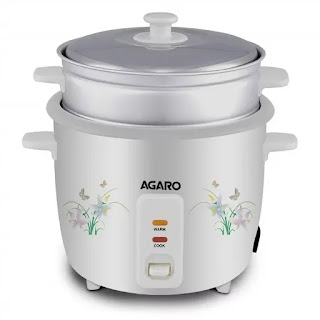 AGARO - 33307 Supreme 1-Litre Rice Cooker with Steam Pot | Best Electric Rice Cookers in India | Best Rice Cooker Reviews