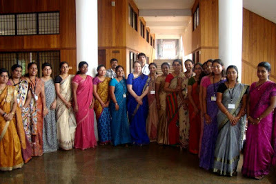 Saris are common professional attire in many parts of India