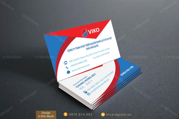 Mẫu card visit công ty phát triển nhân lực và du học