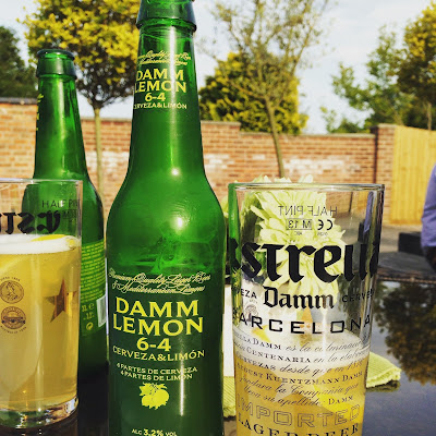 Estrella Damm Lemon in the sunshine