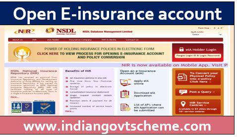 Open E-insurance account