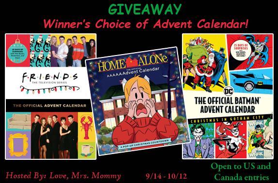 advent calendar, friends tv show, home alone movie, batman advent calendar, batman merch