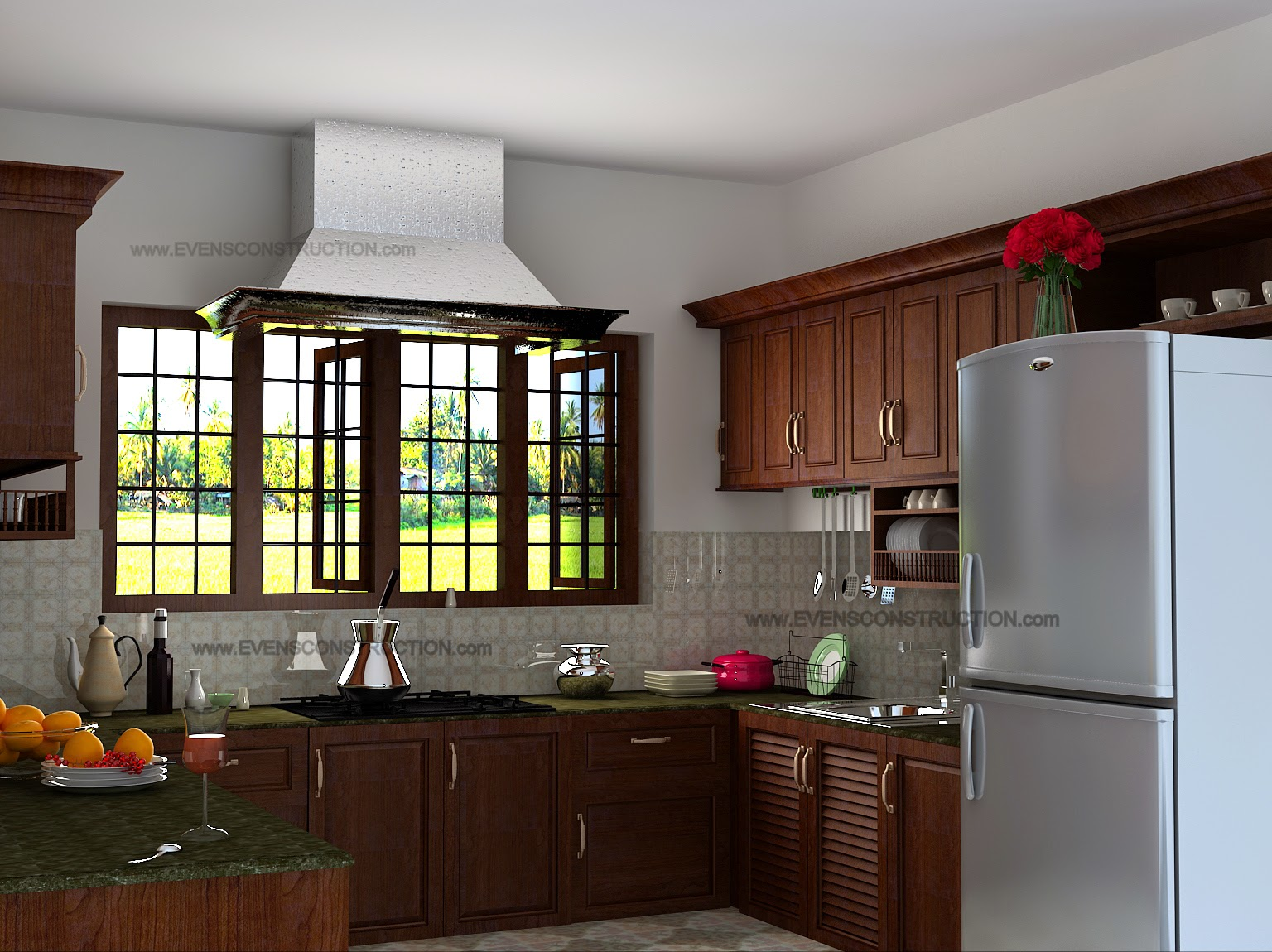 Evens Construction Pvt Ltd: Beautiful kitchen interior