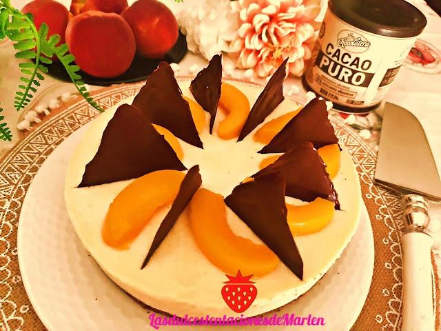 Tarta Mousse De Melocotón Y Chocolate