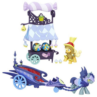 MLP Applejack Sweet Cart and Nightmare Night Charior from FiM Collection