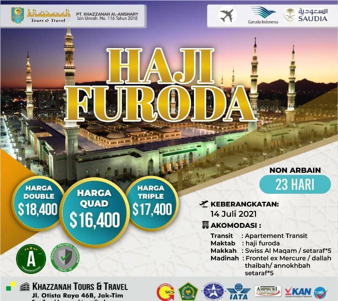 Jadwal Biaya Haji Furoda Non Kuota Onh Plus