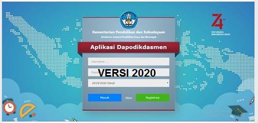 Tampilan Aplikasi Dapodik 2020