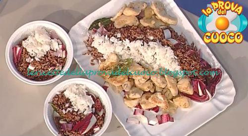 Emincé di tacchino con succo di mela e mandorle con riso rosso ricetta Barzetti da Prova del Cuoco