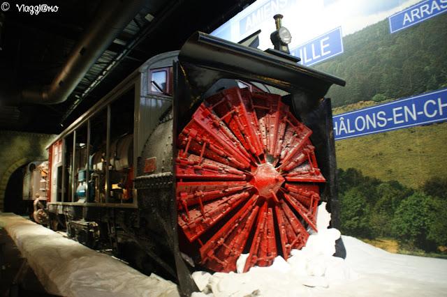 Una locomotiva esposta al Museo Ferroviario di Mulhouse