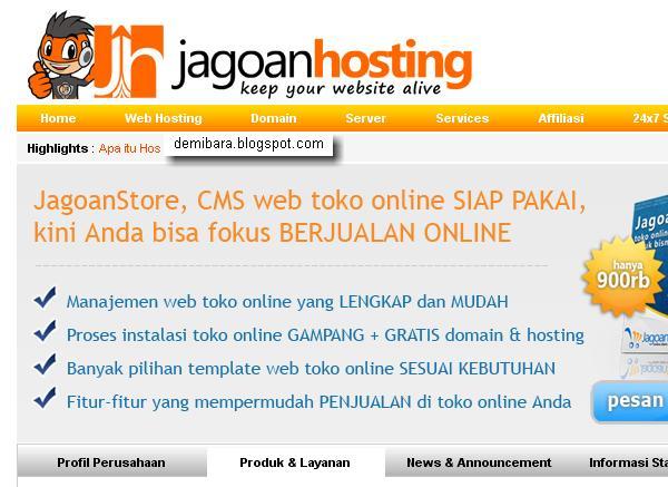 Cara Hosting Website Untuk Toko Online - JagoanHosting