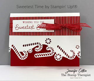 Christmas gift card holder with Stampin' Up!'s Sweetest Time Bundle.  Video and supply list on the blog!  #StampinUp #StampTherapist