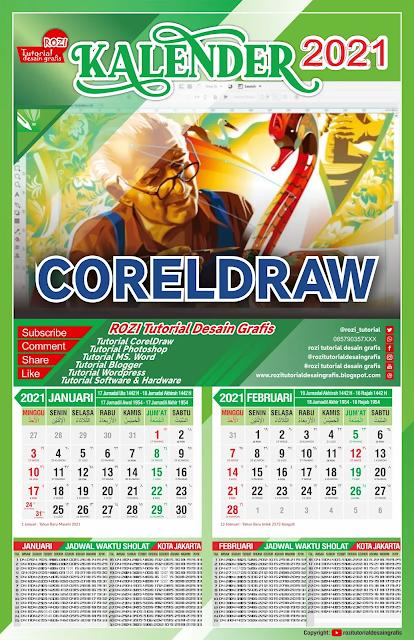 Template Kalender 2021 CDR Gratis