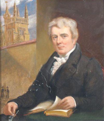 Henry Dison Gabell directeur de Winchester College, portrait de Sir George Hayter (1792-1871)