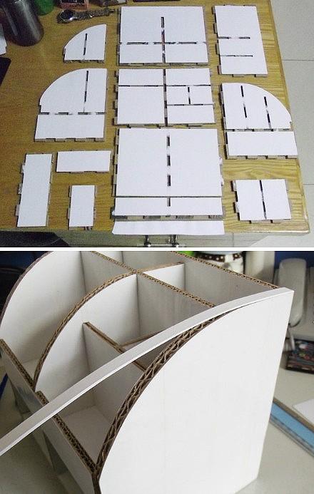 картон, коробки, мастер-класс, органайзер из картона, для канцелярии, для офиса, для детей, подставка для канцелярии, своими руками, мастер-класс,Настольный органайзер из картона (МК) http://handmade.parafraz.space/