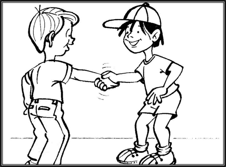 Cuentosdedoncococom Dos Niños Saludando Para Colorear