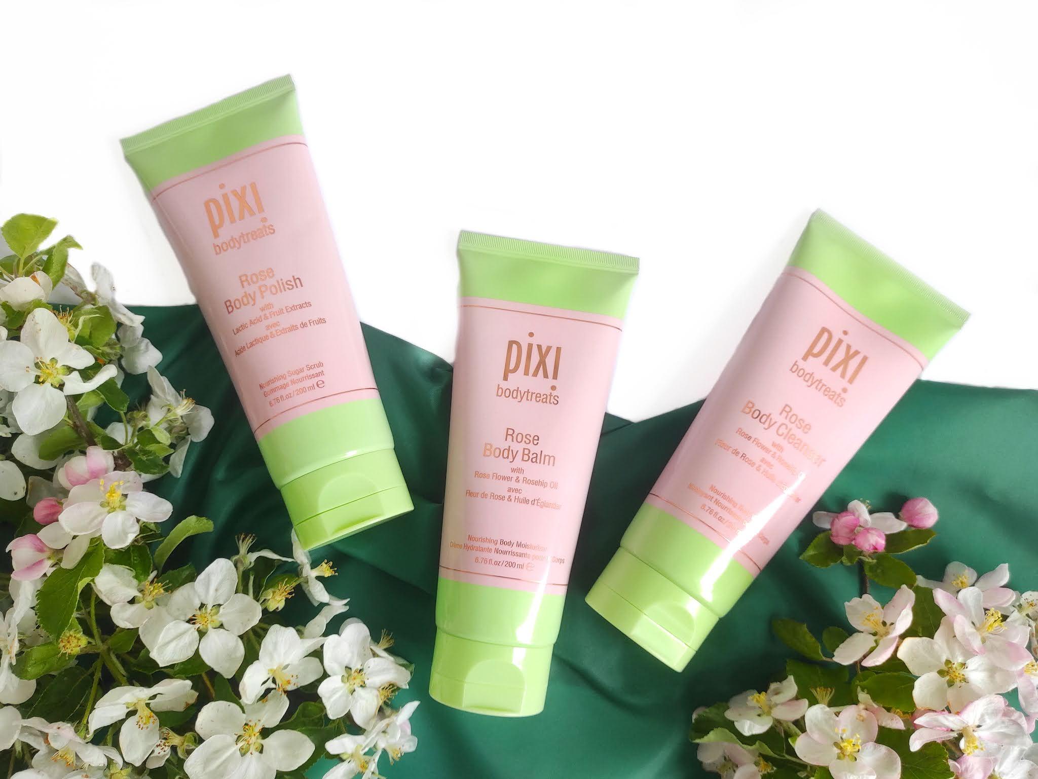 Różana pielęgnacja ciała kosmetykami Pixi Bodytreans Rose