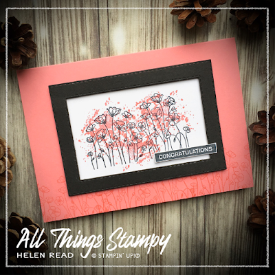 Painted Poppies Stampin Up Helen Read Allthingsstampy Monochromatic