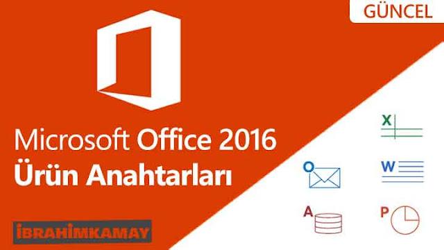 Microsoft Office 2016 Ürün Anahtarları
