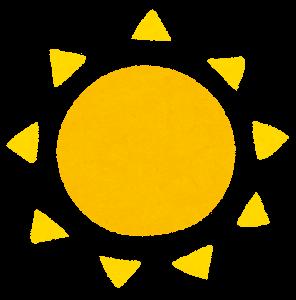 太陽のイラスト(黄)