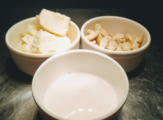 Cheese, cashew nuts and fresh cream food recipe dinner ideas
