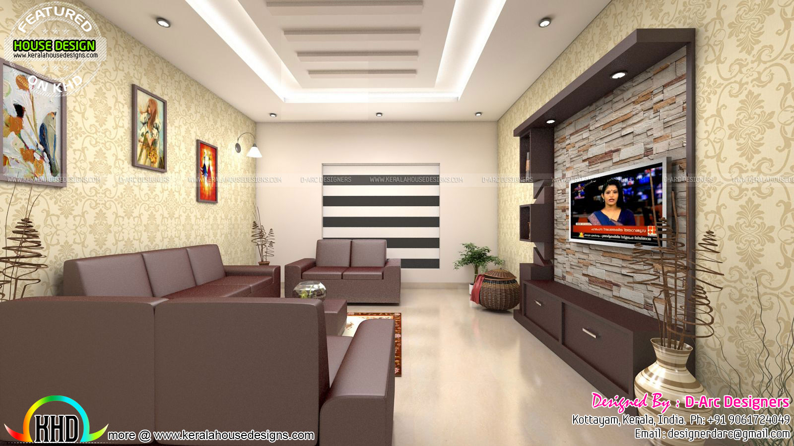 Latest Front Elevation Home Designs In : Modern interiors design trends kerala home