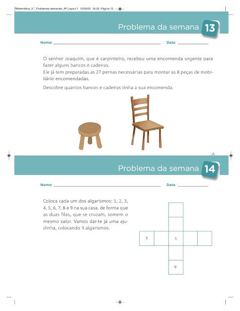 caderno de problemas 3 ano matematica
