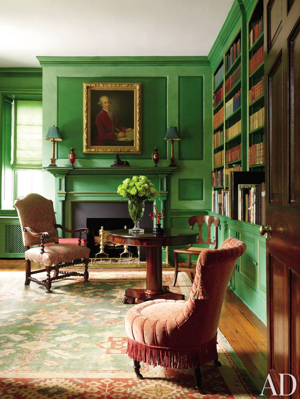 Traditional Interior Design By Ownby: In The Green Room: Home And Art January 17, 2017