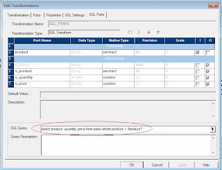 sql transformation sql ports tab in informatica