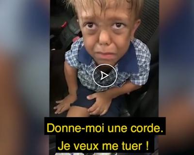 فيديو يهز العالم : طفل يطلب الموت بسبب الاستهزاء