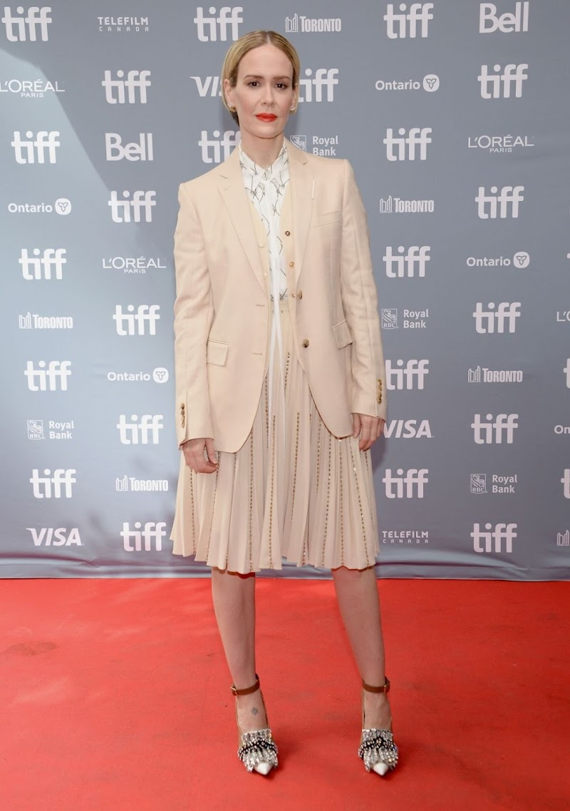 Sarah Paulson at The Goldfinch Press Conference at 2019 TIFF 8 Sep-2019