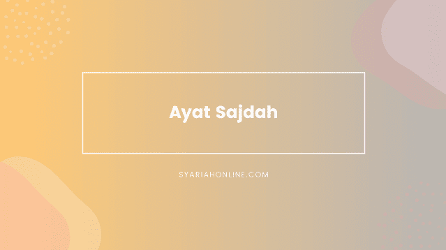Ayat Sajdah