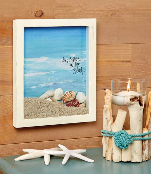 Beach Shadow Box Diorama Idea