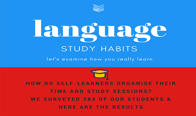How Do People Learn Languages? Language Study Habits #infographic