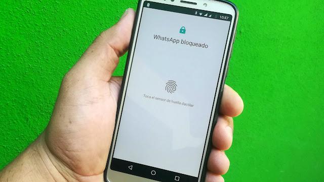 Bloquear y desbloquear WhatsApp con tu huella dactilar