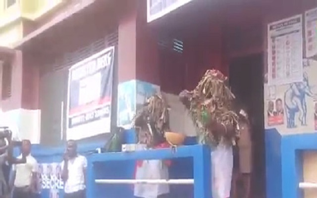 Two Masked women invoke curses on Ghana EC boss [Video]