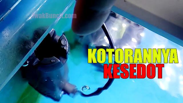 Pakai Skimmer di Aquarium Ikan Mas Koki? Review Skimmer Recent AA SK688